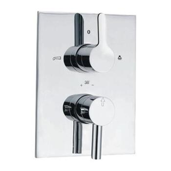 Fusion Thermostatic Concealed Bath and Shower Valve 20mm with Built-in Non Return Valves, HP 1.0
