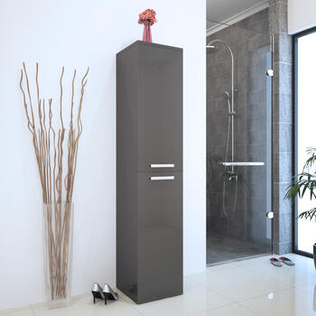 PATELLO BATHROOM TALL BOY GREY Storage
