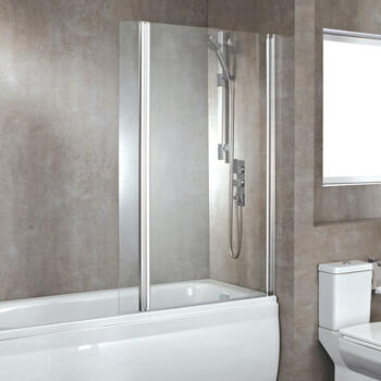 Luxury Hinged Over Bath Screen - 17652