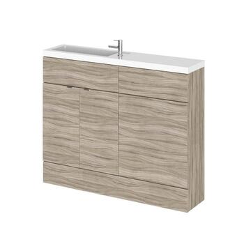 Modern Designer 1100mm Combination Bathroom Furniture Cloakroom Set (Colour Options) straight basin