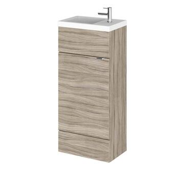 small quality Combination Compact 400 Cloakroom Vanity Unit (Colour Options) Cloakroom vanity