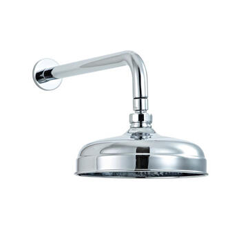 200mm Traditional Shower Head & Wall Arm - 17671