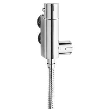 Chrome Vertical Thermostatic Shower Bar Valve Exposed Chrome Bathroom Accessory