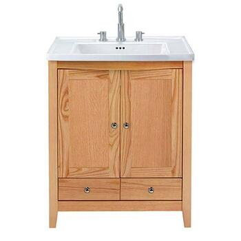 Traditional Designer Radcliffe Esteem square vanity unit 2 wooden doors, 2 drawers straight basin