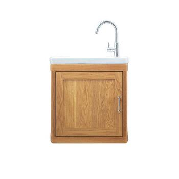 small quality Carlyon Thurlestone 1 Door Traditional Cloakroom Bathroom Vanity Unit R/H Cloakroom vanity