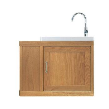 Traditional Designer Thurlestone Traditional Cloak Offset Bathroom Vanity Unit R/H Solid Wood straight basin