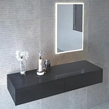 Cloud Wall Hung Vanity Unit grey  Wall Hung Stylish