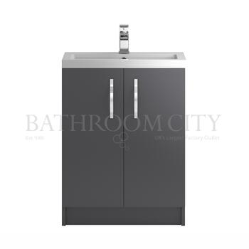 Modern contempory Apollo Free standing 600mm bathroom vanity Unit straight basin