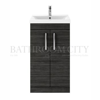 Modern contempory Atheana 500 Free Standing 2-Door Bathroom Vanity unit (colour options) straight basin