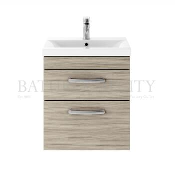 Atheana 500 Wall Hung 2-Draw Bathroom Vanity Unit With Basin (colour options) - 177322