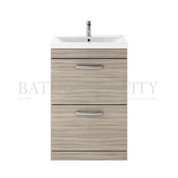 Atheana 600 Free Standing 2-Draw Bathroom Vanity Unit With Basin (colour options) - 177324