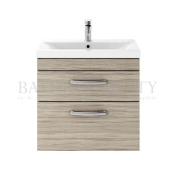 Atheana 600 Wall Hung 2-Draw Bathroom Vanity Unit With Basin (colour options) - 177326