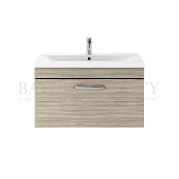 Luxury wall hung design Atheana 800 Wall Hung 1-Draw Bathroom Vanity unit With Basin (colour options) with a range of colour options