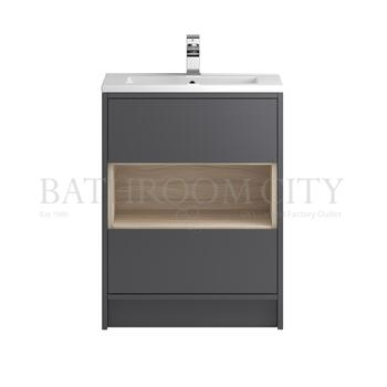 Modern Designer Coast Free Standing 600 Cabinet with storage straight basin