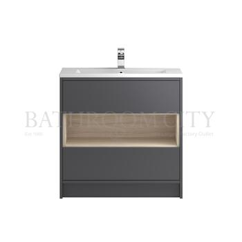 Modern Designer Coast Free Standing 800 Cabinet with storage straight basin