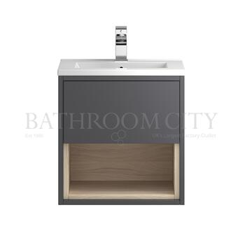 Coast Wall hung 500 Cabinet with storage & Basin - 177421