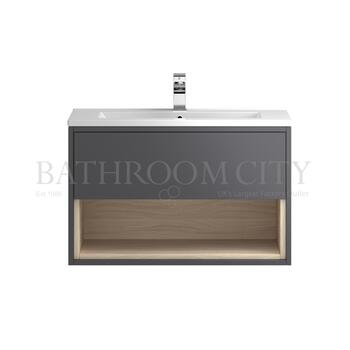 Coast Wall hung 800 Cabinet with storage & Basin - 177423