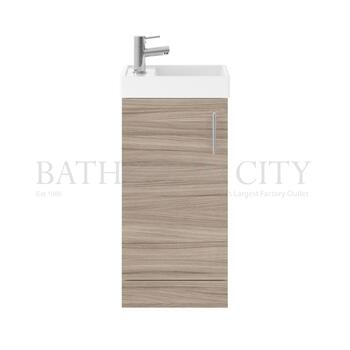 small quality Vault 400 Single Door small bathroom vanity Unit and Basin Cloakroom vanity
