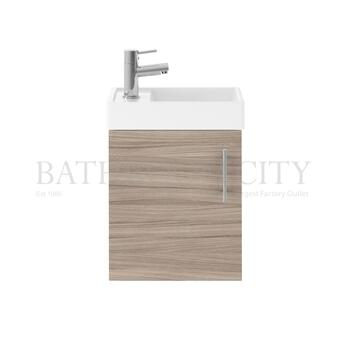 luxury quality  Vault 400 Single Door Wall hung small bathroom vanity Unit and Basin