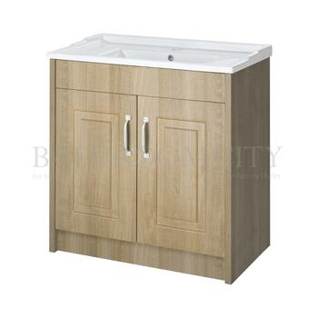 Traditional Designer york 800mm 2 Door Basin and Bathroom vanity unit straight basin