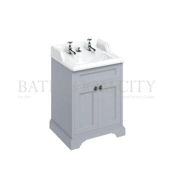 Traditional Designer Freestanding 65 Vanity Unit with doors straight basin