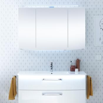 Solitaire 9020 Bathroom Mirrored cabinet 3 mirrored doors - 178314