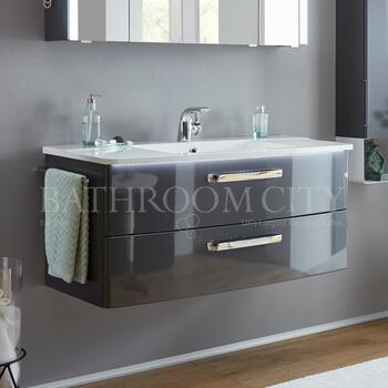 Solitaire 9020 1420vanity base cabinet 2 drawers and basin - 178325