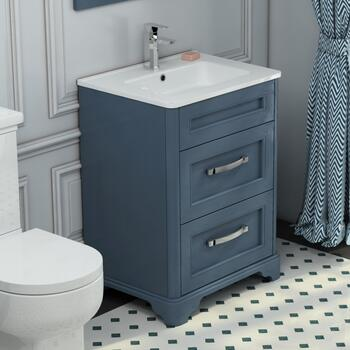 Old England Maralyn 2 Draw 600mm Bathroom Vanity Unit And Basin - 178817