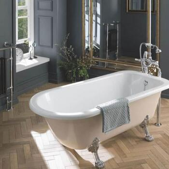 Mistley 1700mm Single Ended Bath with Feet and Overflow - 179023