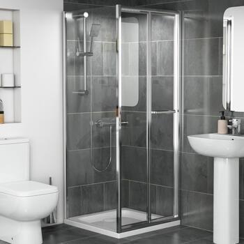 Radiant Reduced Height Bifold Shower Door 760mm - 179309