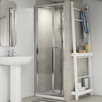 Radiant Reduced Height Bifold Shower Door 900mm - 179311