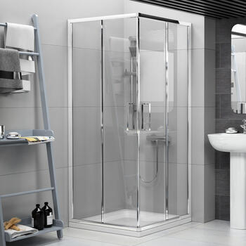 RADIANT REDUCED HEIGHT CORNER ENTRY SHOWER ENCLOSURE