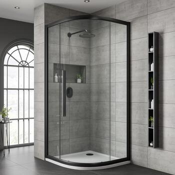 Jaquar Black Shower Enclosure Quadrant