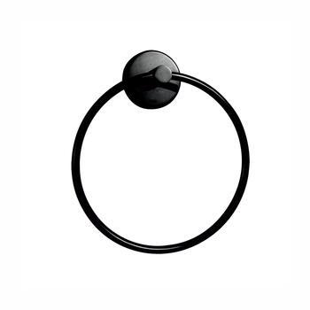 Jaquar Continental Black Towel Ring - 179396