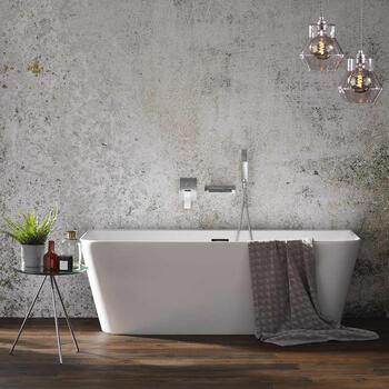 GROVE SLIM FREESTANDING BACK TO WALL BATH 1