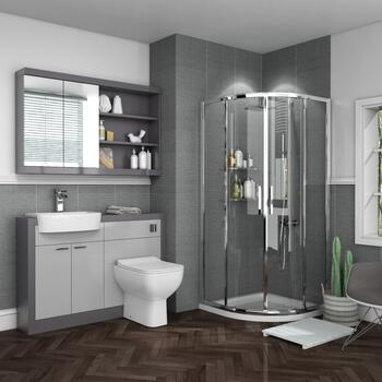 Grove Bathroom Suite with Combination Unit