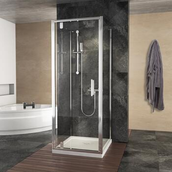 pivot chrome shower enclosure