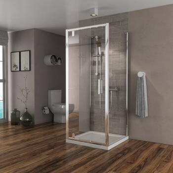 pivot chrome finish shower cubicle