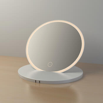 Rechargeable Bathroom Mirror with LED Lights & Touch Sensor