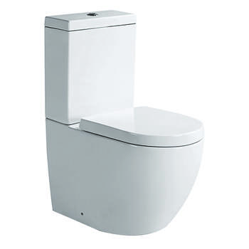 BC Hampshire Close Couple Toilet & Soft Close Seat curved