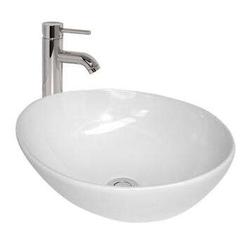 Monaco Oval Counter Top Basin curved Countertop Contemporary Bathroom