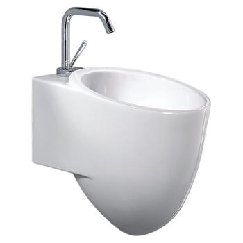 Tixel White Contemporary Elegant White Ceramic Bathroom Wash Basin