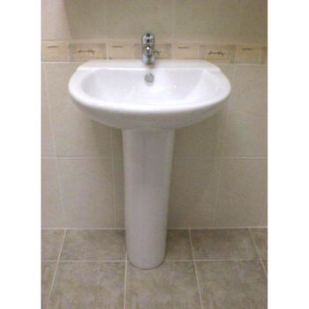 New Jazz 550 Basin and Pedestal curved Modern