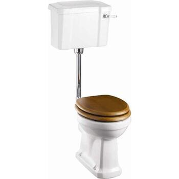 Slimline Low Level Toilet & Seat Traditional  Victorian Toilet