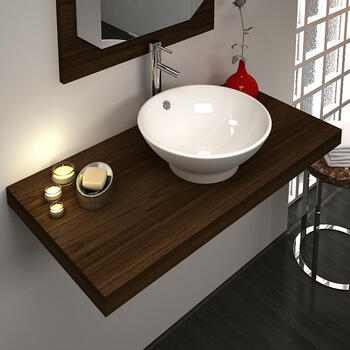 Tara Basin With Shelf And Extended Tap curved Countertop Designer and Stylish Bathroom Accessory