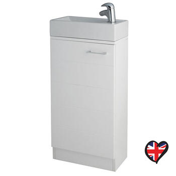 Spark plain 410 Vanity Unit With Fiord Basin straight Unique Design Bathroom