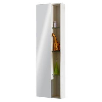 Glow White Wall Hung Mirror Storage Unit - 22-369