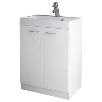 Spark Plain 600 Vanity Unit With Basin rectangle Designer Bathroom and Cloakroom