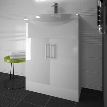 Ecco 650 Vanity Unit With Basin (White) - 22-455