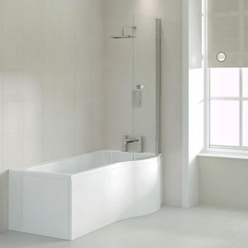 Ethan 1700 P Shaped Shower Bath (right Handed) - 23-022